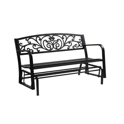 Living Accents  Steel  Bench Glider