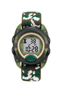 Timex  Unisex  Round  Camouflage  Sports Watch  Digital  Water Resistant Nylon