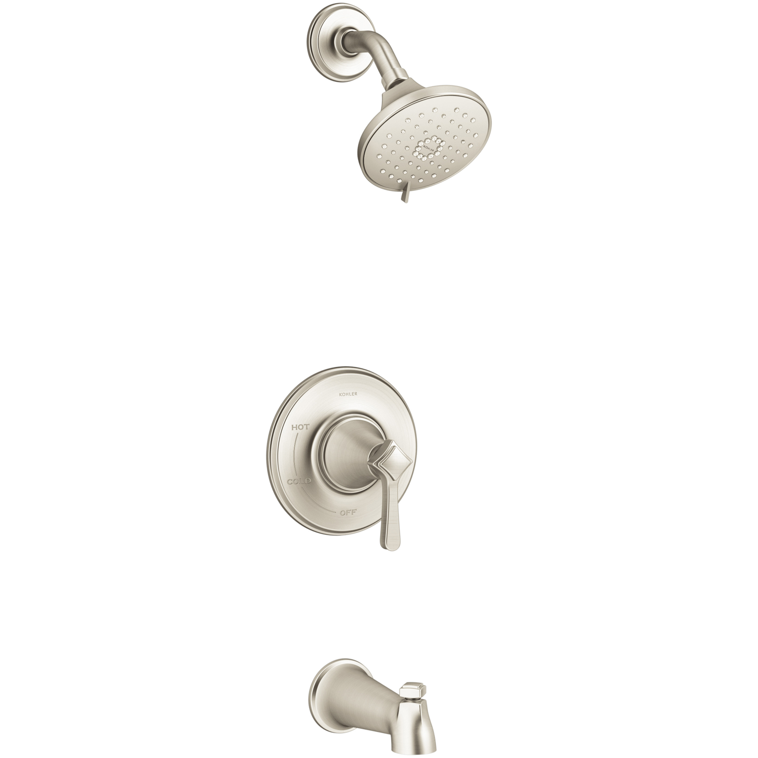 Kohler Georgeson 1 Handle Brushed Nickel Tub And Shower