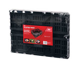Ace  Collapsible  7.5 in. H x 14.1 in. W Storage Basket  Gray
