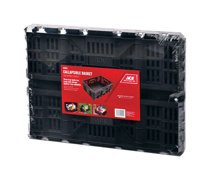 Ace  Collapsible  7.5 in. H x 14.1 in. W Gray  Storage Basket