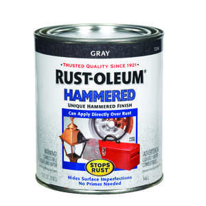 Rust-Oleum  Indoor and Outdoor  Hammered  Gray  Protective Enamel  1 qt.