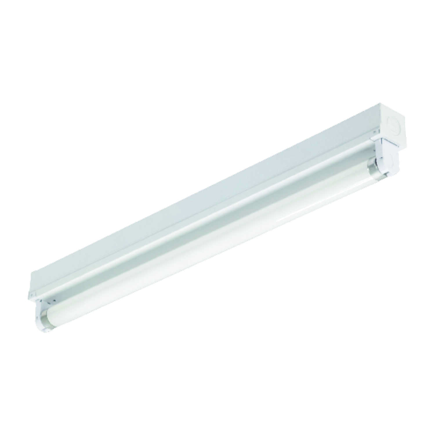Lithonia Lighting  18 in. L White  Hardwired  Fluorescent  Strip Light