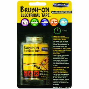 Blue Magic  1 mm W Black  Rubber  Brush-On Electrical Tape
