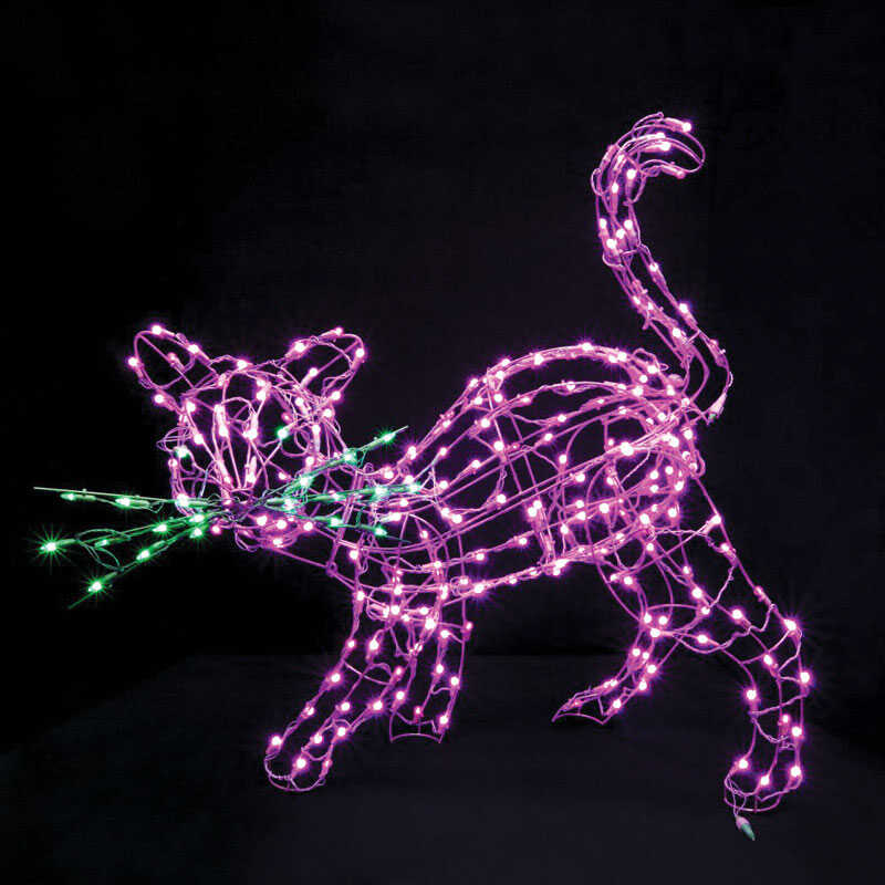 Santa's Best  Cats  Lighted Halloween Decoration