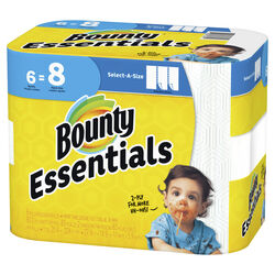Bounty Essentials Select-A-Size Paper Towels 83 sheet 2 ply 6 pk