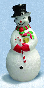Union Products  Snowman Blow Mold  Christmas Decoration  Red/White  Resin  40 in. 1 pk