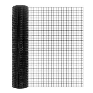 Mega Roll  48 ft. H x 50 ft. L 16 Ga. Black  Poultry Fence