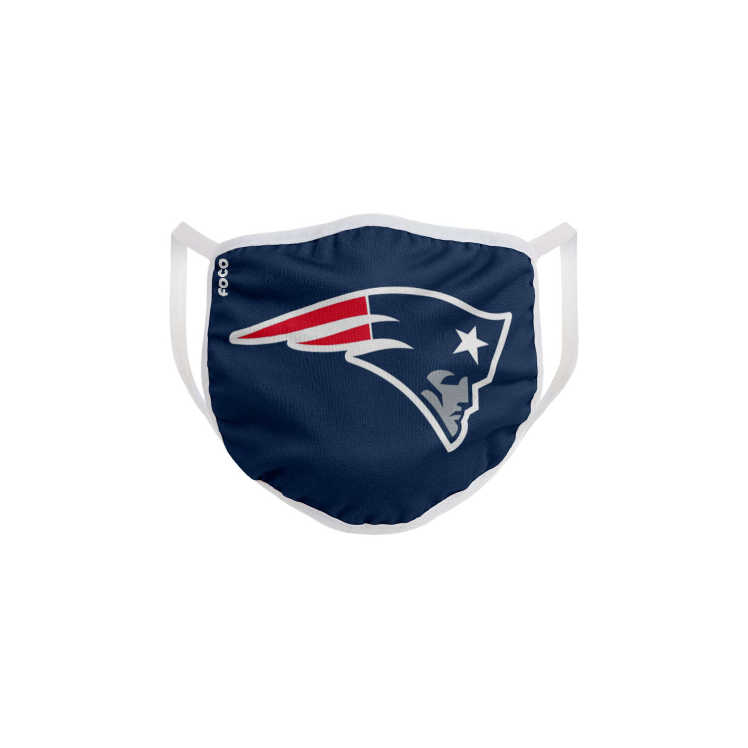 FOCO  Household Multi-Purpose  New England Patriots  Face Mask  Multicolored  1 pk