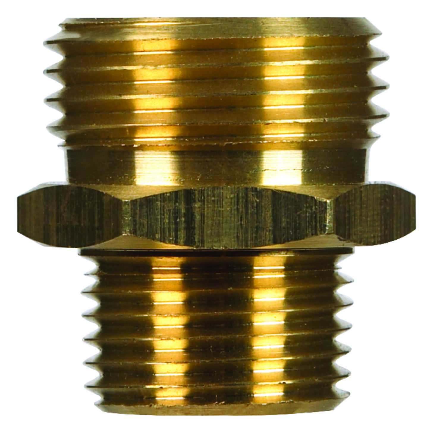 JMF  Brass  Male Hose Adapter  1/2 in. Dia. x 3/4 in. Dia. Yellow  1 pk