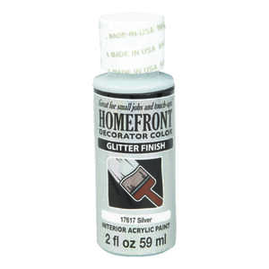 Homefront  Decorator Color  Glitter  Hobby Paint  2 oz. Acrylic Latex  Silver