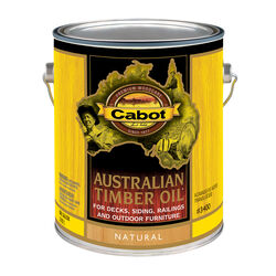 Cabot  Transparent  Natural  Oil-Based  Alkyd  Australian Timber Oil  1 gal.