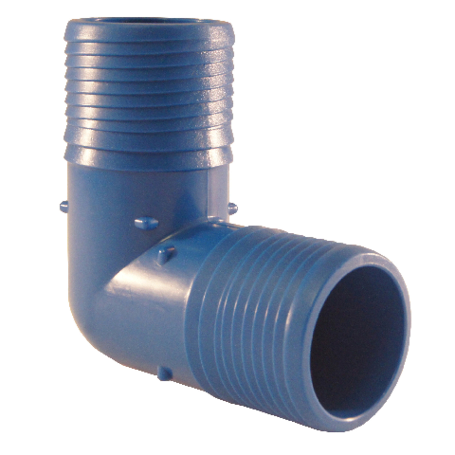 Blue Twisters  1-1/2 in. Insert   x 1-1/2 in. Dia. Insert  Polypropylene  Elbow