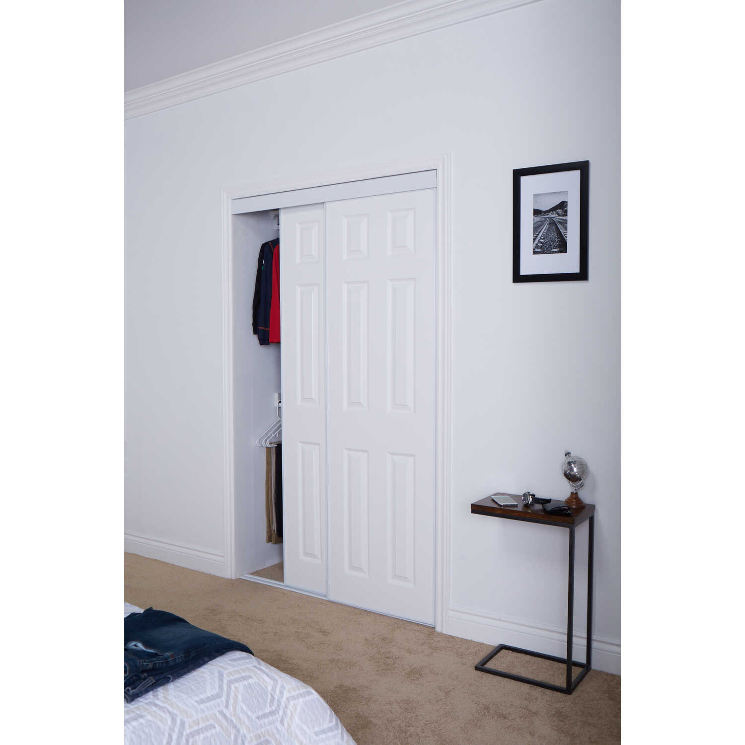 Erias  80.5 in. H x 60 in. W Wood  Bypass Door