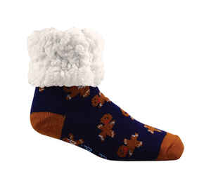 Pudus  Gingerbread  Slipper Socks  Acrylic/Polyester  1 pair