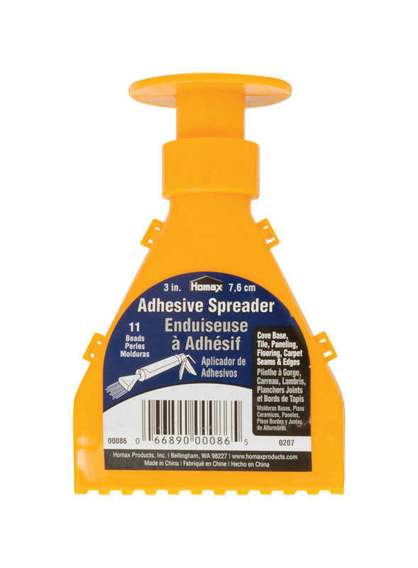 Homax  3 in. W Plastic  Adhesive Spreader