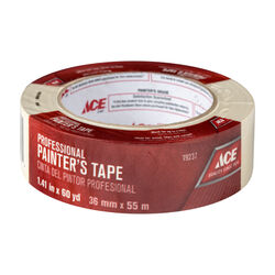 Ace  1.41 in. W x 60 yd. L Beige  Regular Strength  Painter's Tape  1 pk