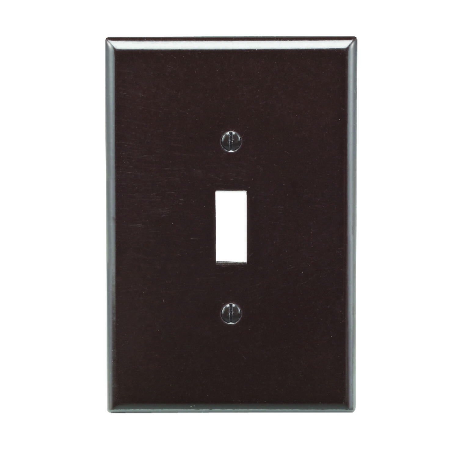 Leviton  Brown  1 gang Plastic  Toggle  Wall Plate  1 pk