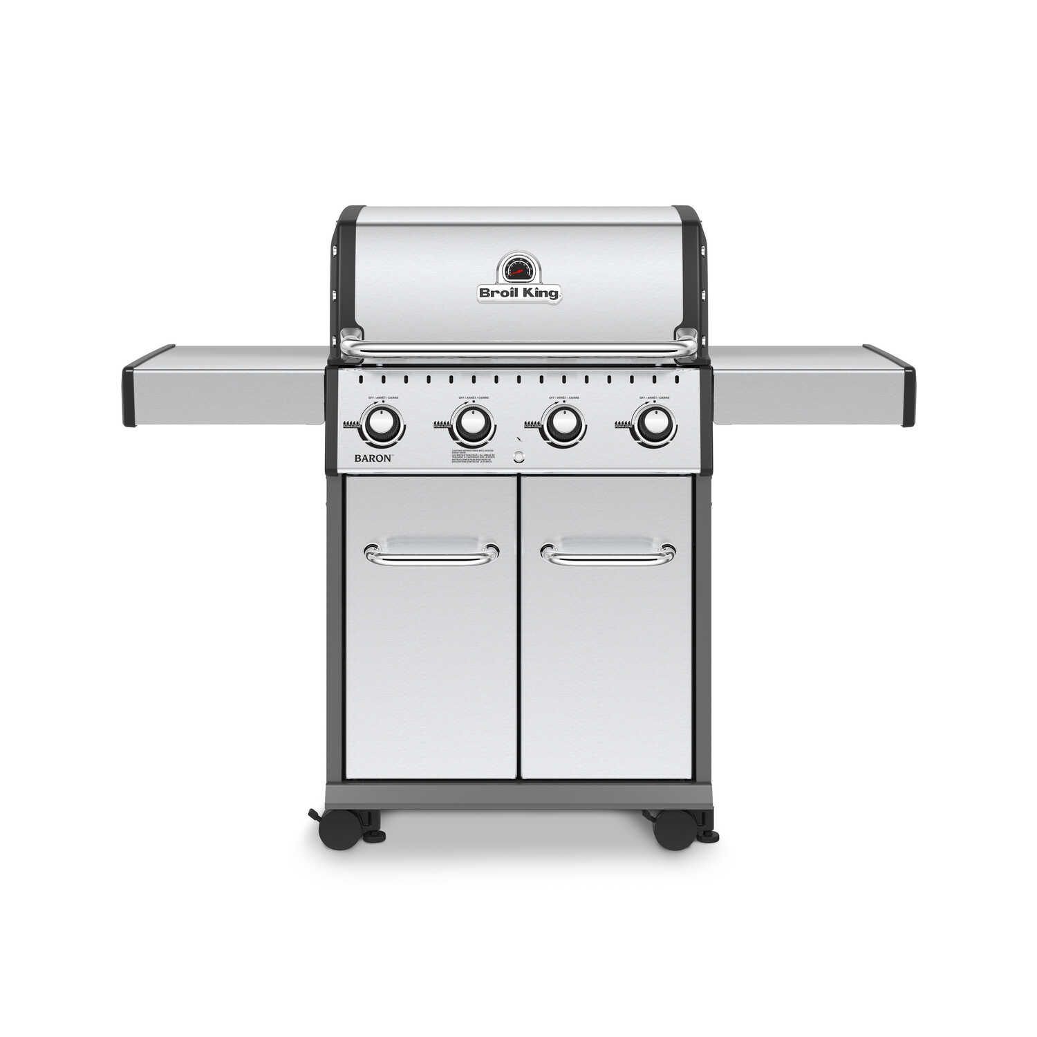 Broil King  Baron PRO Series  4 burners Propane  Grill  Stainless Steel  40000 BTU