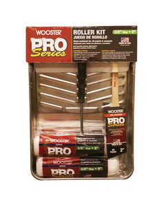 Wooster  Pro Series  Threaded End 9 in. W Paint Roller Kit