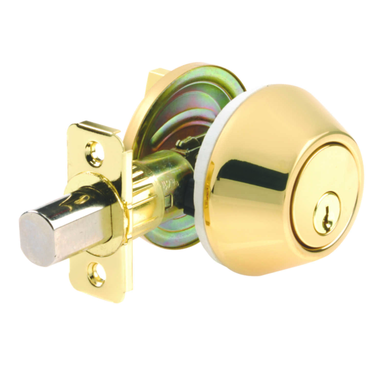 Ace  Mobile Home  Polished Brass  Single Cylinder Deadbolt