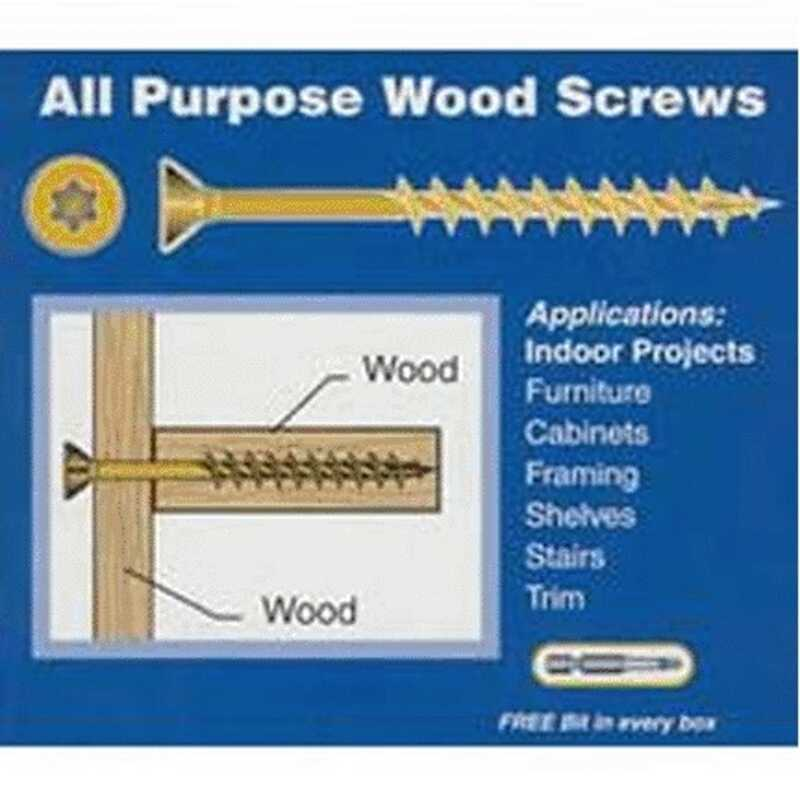 Power Pro  No. 10   x 3-1/2 in. L Star  Flat Head Bronze Ceramic  Steel  Wood Screws
