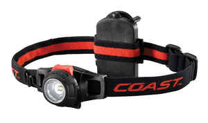 Coast  HL7  305 lumens Black  LED  Head Lamp  AAA