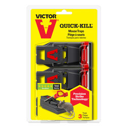 Victor  Quick-Kill  Snap Trap  For Mice 3 pk