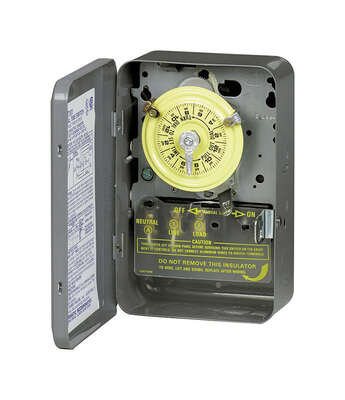 Intermatic Indoor 24 Hour Dial Timer 120 volt Gray