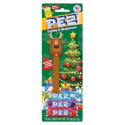 PEZ  Christmas  Assorted  Candy and Dispenser  1.87 oz.