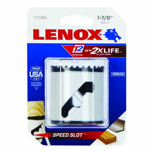 Lenox  Speed Slot  1-7/8 in. Dia. x 1.5 in. L Bi-Metal  Hole Saw  1/2 in. 1 pc.