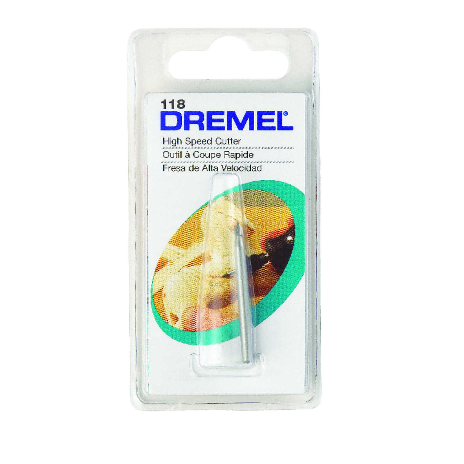 Dremel  1/8 in   x 1.5 in. L x 1/8 in. Dia. Steel  High Speed Cutter  1 pk