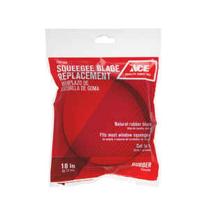 Ace  18 in. Rubber  Squeegee Replacement Blade