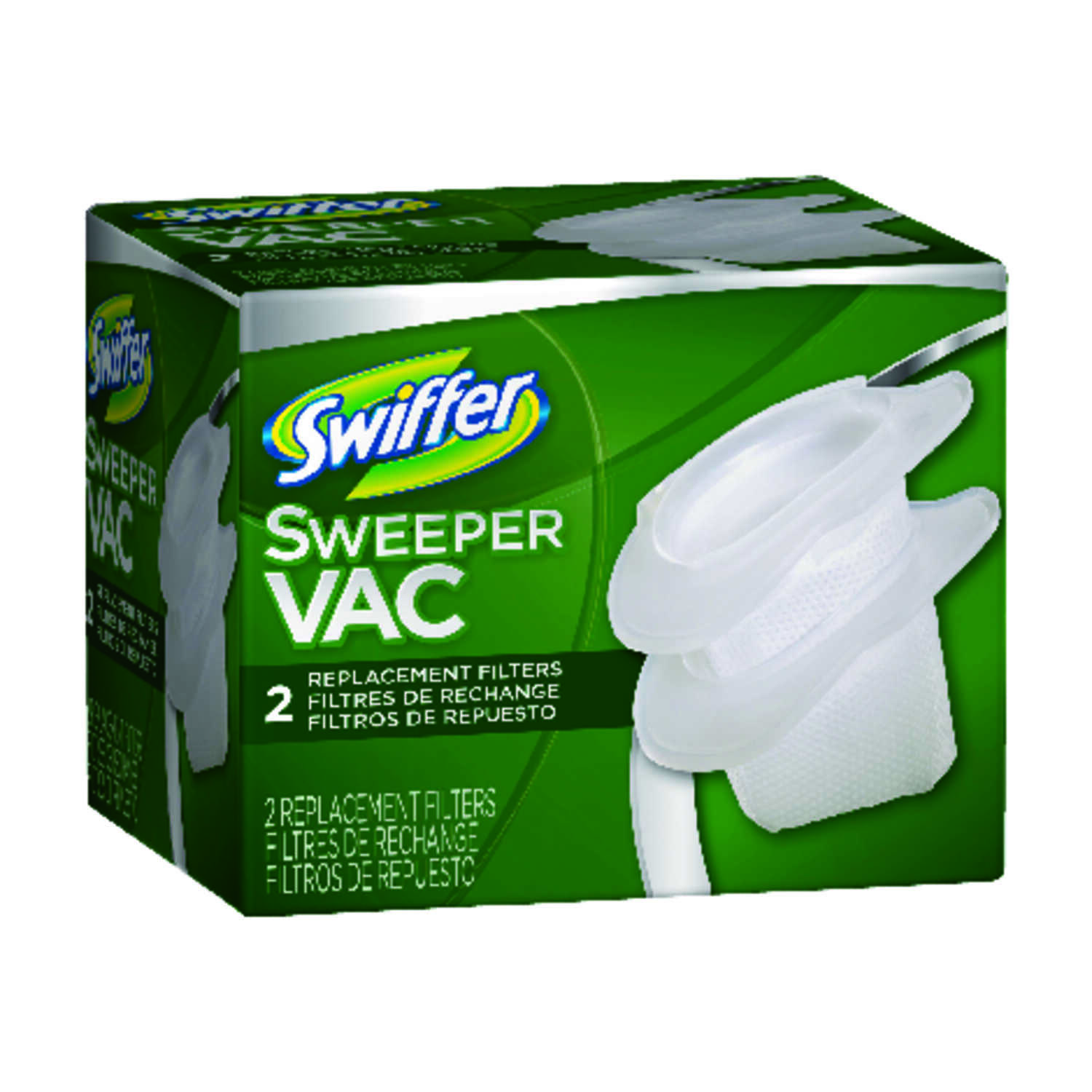 Swiffer  SweeperVac  Vacuum Filter  For Snaps into place 2 pk