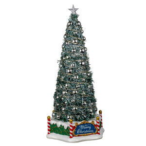 Lemax  Majestic Christmas Tree  Tabletop Decoration  Green  Electronic Component  13.27 in. 1 pk