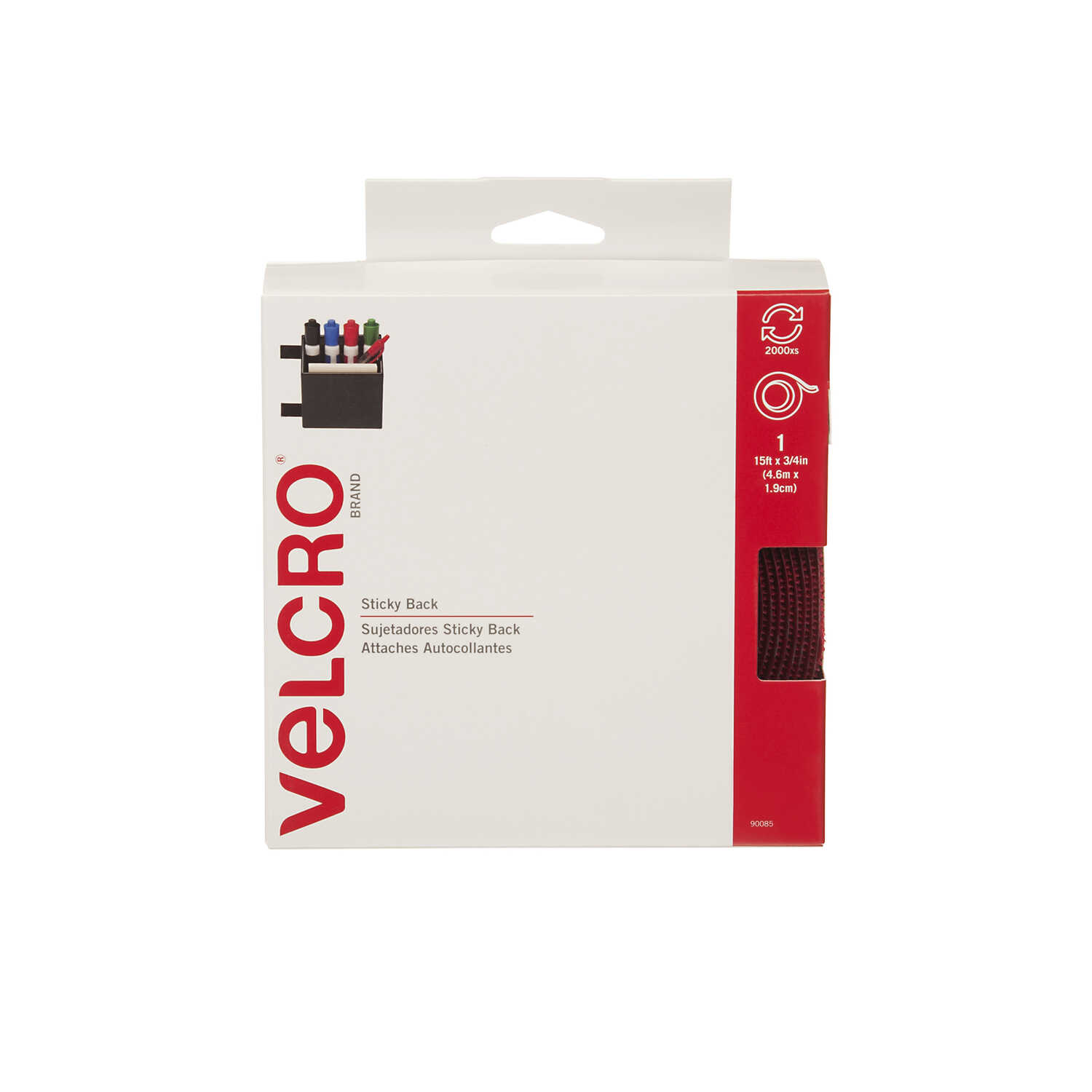 Velcro  180 in. L Hook and Loop Fastener  1 pk
