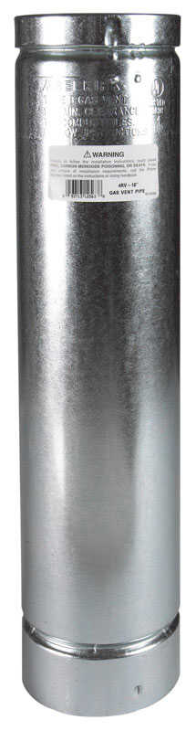 Selkirk  4 in. Dia. x 18 in. L Aluminum  Round Gas Vent Pipe