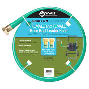 Swan  5/8 in. Dia. x 6 ft. L Leader  Green  Hose
