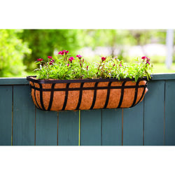 Living Accents  Black  Steel  Deck Planter
