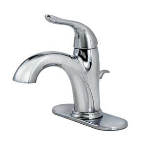 OakBrook  Pacifica  Pacifica  Single Handle  Lavatory Pop-Up Faucet  4 in. Chrome