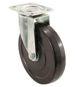 Shepherd  5 in. Dia. Swivel Rubber  Caster  200 lb. 1 pk