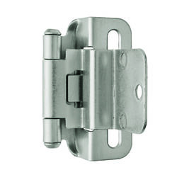 Amerock  1-3/4 in. W x 2-1/4 in. L Satin Nickel  Steel  Self-Closing Hinge  2 pk