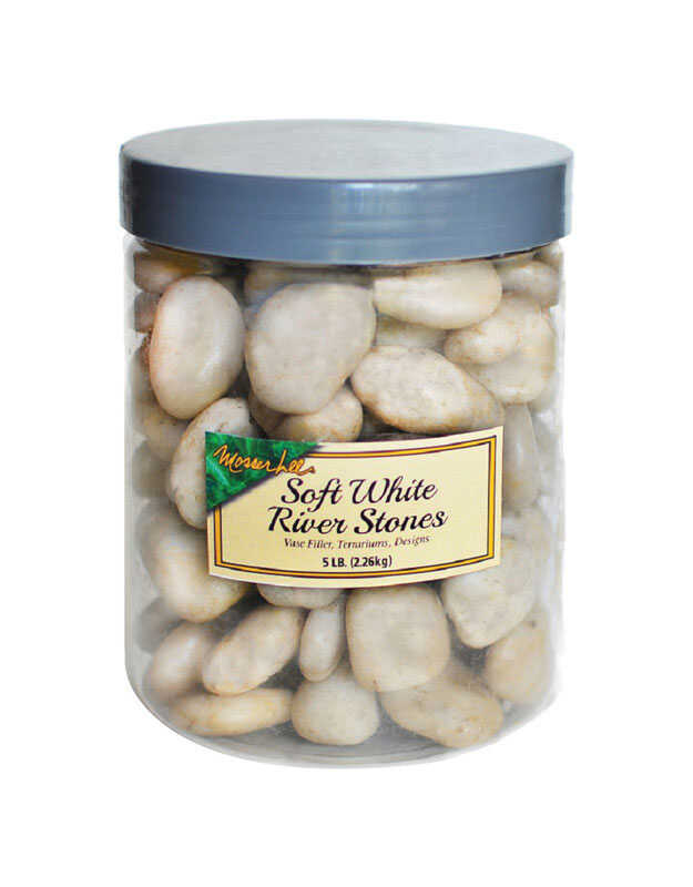 Mosser Lee  White  River Stone  Vase Filler  5 lb.