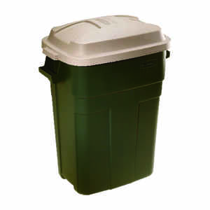 Rubbermaid  Roughneck  30 gal. Plastic  Garbage Can  Lid Included