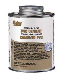 Oatey  Clear  Cement  For PVC 4 oz.