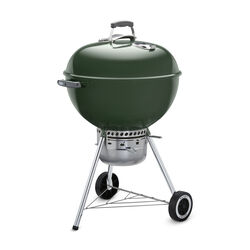 Weber  Original Premium  Charcoal  Kettle  Grill  Green  22 in.