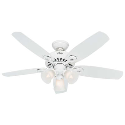 Hunter Fan  Builder Small Room  42 in. Snow White  Indoor  Ceiling Fan