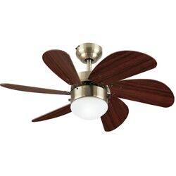 Westinghouse Turbo Swirl 30 in. Antique Brass Brown LED Indoor Ceiling Fan