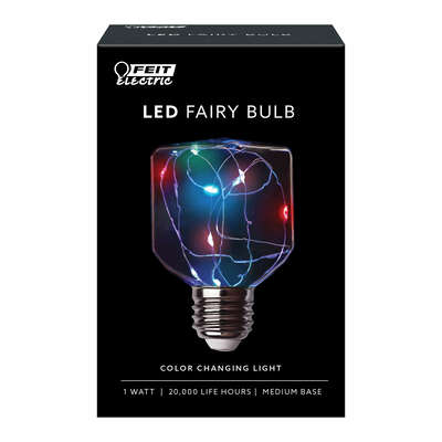 FEIT Electric  Fairy  Square  E26 (Medium)  LED Bulb  Multi-Colored  0 Watt Equivalence 1 pk