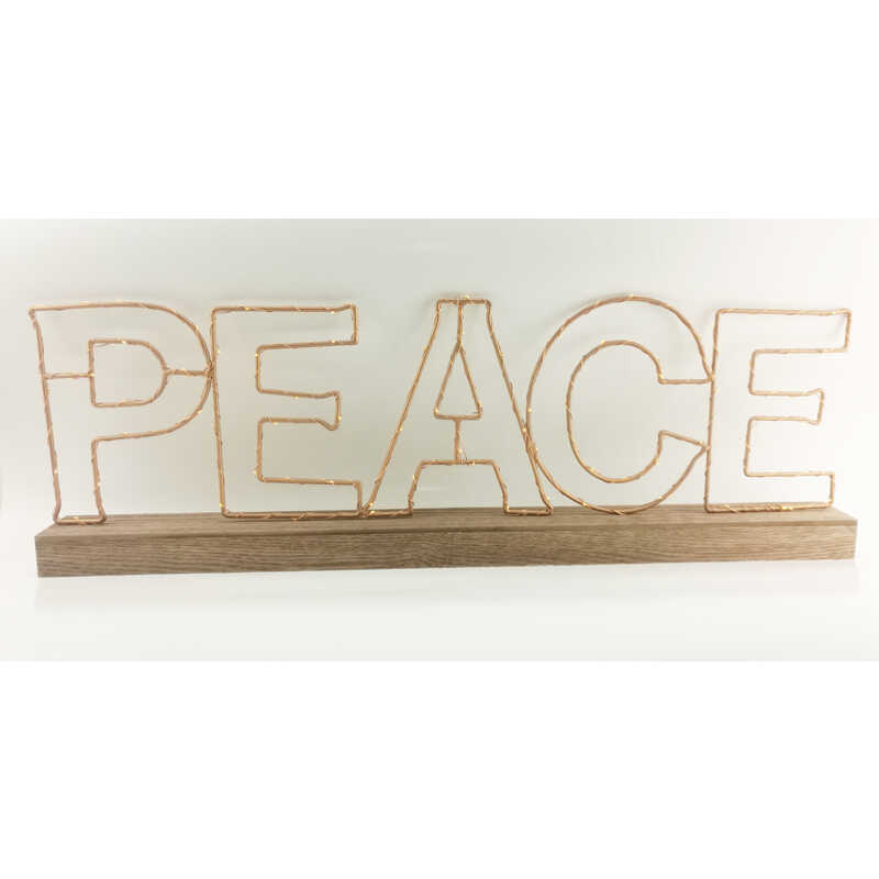 Gerson Battery Operated Peace Sign Led Christmas